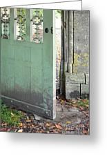 Open Garden Gate Greeting Card