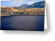 Open Pit Copper Mine Greeting Card