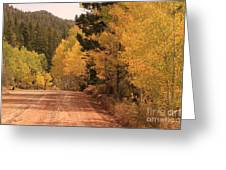 Open Road 4 Greeting Card