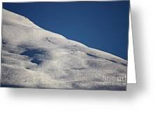 Open Ski Trail St Moritz Greeting Card