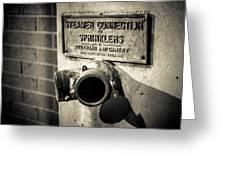 Open Sprinkler Greeting Card