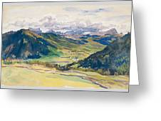 Open Valley. Dolomites Greeting Card