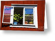 Open Window Greeting Card