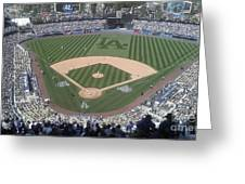 Opening Day Upper Deck Greeting Card by Chris Tarpening