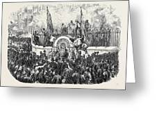 Opening Of The First Public Drinking Fountain Greeting Card