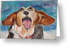 Opera Dog Greeting Card