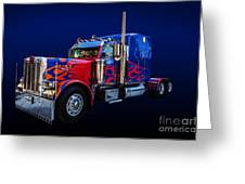 Optimus Prime Blue Greeting Card