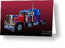 Optimus Prime Red Greeting Card