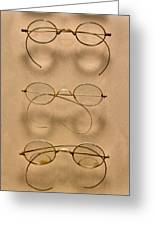 Optometrist - Simple Gold Frames Greeting Card