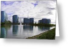 Oracle Buildings In Redwood City Ca Greeting Card