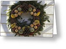 Orange And Artichoke Wreath Greeting Card
