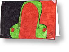 Orange And Green Greeting Card