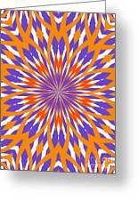 Orange And Purple Kaleidoscope Greeting Card