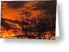 Orange And Yellow Sunset Greeting Card