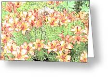 Orange Asiatic Lilies Greeting Card