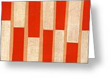 Orange Bars Greeting Card