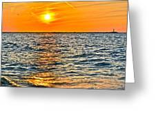 Orange Burn Greeting Card