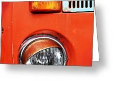 Orange Camper Van Greeting Card