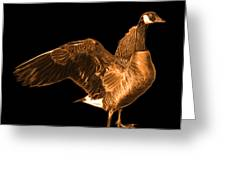 Orange Canada Goose Pop Art - 7585 - Bb  Greeting Card