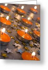 Orange Candles Greeting Card