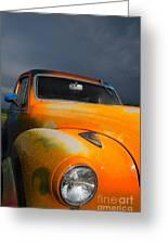 Orange Car Greeting Card