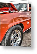 Orange Chevelle Ss 396 Greeting Card