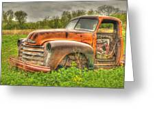 Orange Chevy Greeting Card