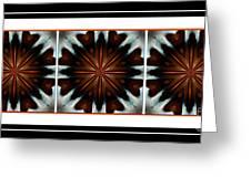 Orange Chocolate Trio - Kaleidoscope - Triptych Greeting Card