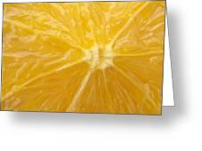 Orange Closeup Greeting Card