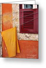 Orange Cloth  Greeting Card