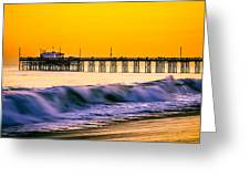 Orange County Panoramic Sunset Picture Greeting Card