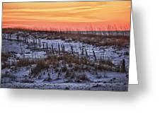 Orange Dawn Greeting Card