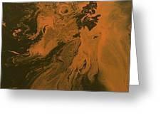 Orange Dragon Greeting Card