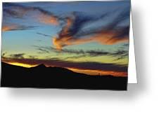 Orange Dragon Sunset Greeting Card