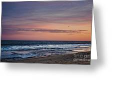 Orange Dusk Greeting Card
