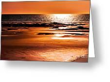 Orange Evening Greeting Card
