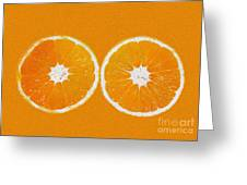 Orange Eyes Greeting Card