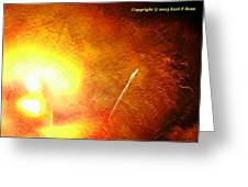 Orange Fireworks Greeting Card