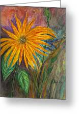 Orange Flower Greeting Card by Anais DelaVega