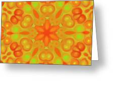 Orange Flower Mandela Greeting Card