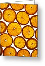 Orange Fresh Greeting Card