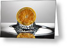 Orange Freshsplash Greeting Card