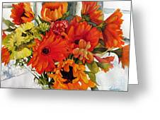 Orange Gerberas Greeting Card
