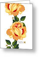 Orange Glow Greeting Card by Anne Norskog