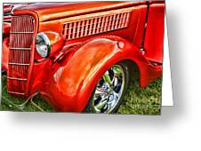 Orange Hood And Fender-hdr Greeting Card