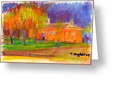 Orange House Greeting Card
