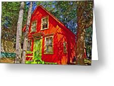 Orange In Asbury Grove In South Hamilton-massachusetts  Greeting Card