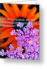 Orange Lavender Flower Greeting Card