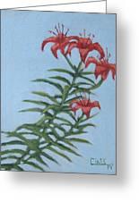 Orange Lilies Greeting Card