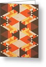 Orange Maze Greeting Card